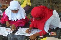 Acehnese girls colouring stories